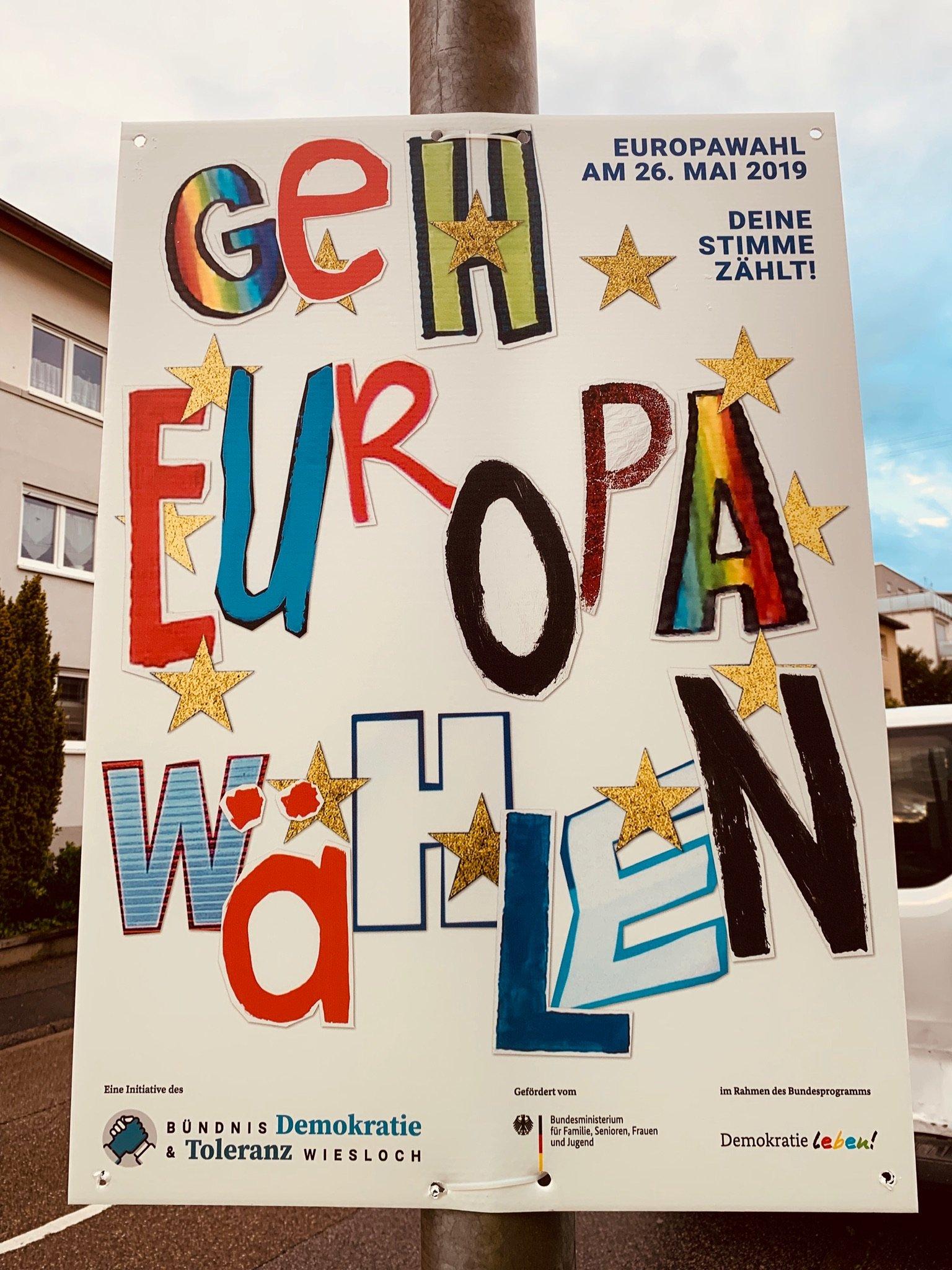 Geh Europa wählen