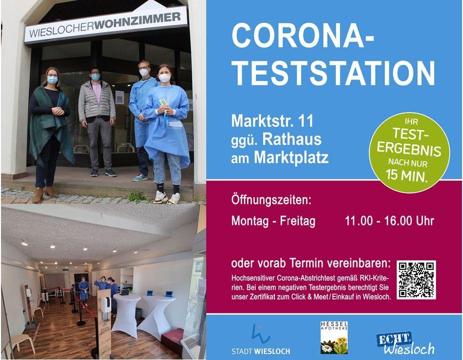Corona- Teststation direkt in der Innenstadt